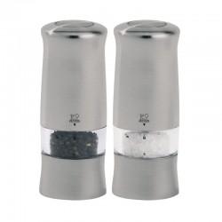 Conjunto de Moinhos Elétricos 14cm - Zeli Duo Inox - Peugeot Saveurs
