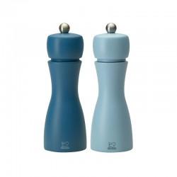 Conjunto Molinillo Sal y Pimienta 15cm - Tahiti Verão Azul - Peugeot Saveurs