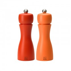 Salt And Pepper Mill Set 15cm - Tahiti Outono Orange - Peugeot Saveurs