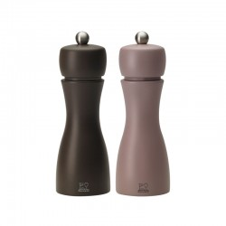 Salt And Pepper Mill Set 15cm - Tahiti Inverno Grey - Peugeot Saveurs