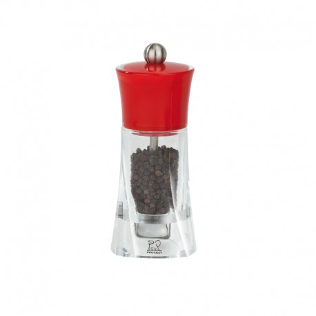 Pepper Mill 14cm - Molene Red - Peugeot Saveurs | Pepper Mill 14cm - Molene Red - Peugeot Saveurs