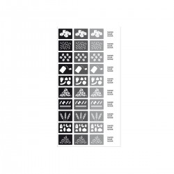 Pegatinas para Cajas de Almacenamiento Negro/gris - Rig-tig