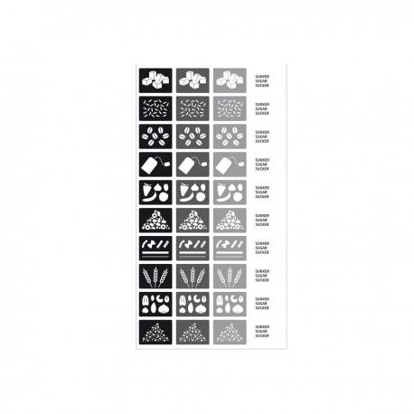 Pegatinas para Cajas de Almacenamiento Negro/gris - Rig-tig RIG-TIG RTZ00011