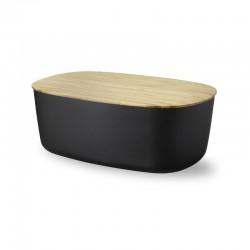 Caixa para Pão e Tábua - Box It Preto - Rig-tig
