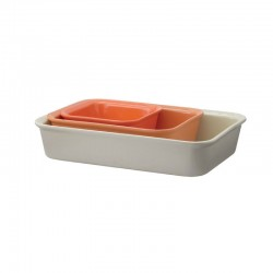 Conjunto Assadeiras (X3) - Cook & Serve Laranja - Rig-tig