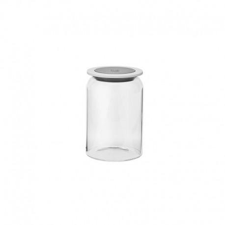 Storage Jar - Goodies 1L Grey And White - Rig-tig   Storage Jar - Goodies 1L Grey And White - Rig-tig