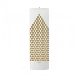 Vela De Navidad Puntos - Calendario Blanco/dorado - Stelton