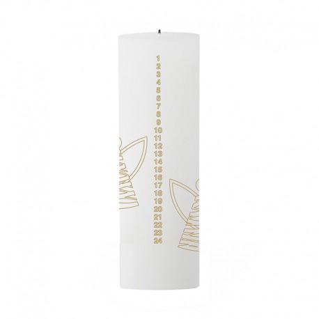 Vela De Navidad Angel - Calendario Blanco/dorado - Stelton STELTON STT10218