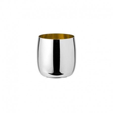 Wine Tumbler 200 Ml - Norman Foster Inox And Gold - Stelton   Wine Tumbler 200 Ml - Norman Foster Inox And Gold - Stelton