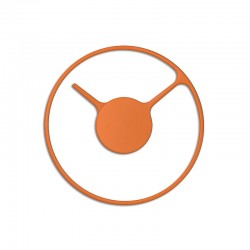 Wall Clock - Time Ø22Cm Orange - Stelton