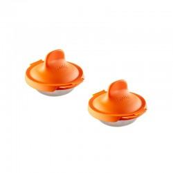 Escalfadores de Huevos 2Un - Naranja - Lekue