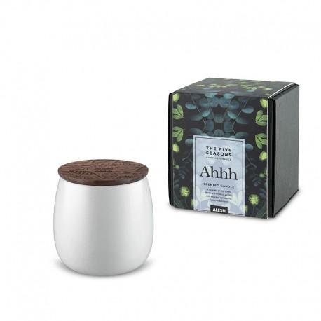Vela Perfumada Pequena Ahhh - The Five Seasons Branco - Alessi ALESSI ALESMW62S 2W