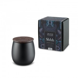 Small Scented Candle Shhh - The Five Seasons Black - Alessi ALESSI ALESMW62S 5B