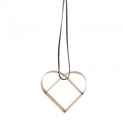 Ornamento Coração Pequeno Dourado - Figura - Stelton