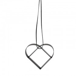 Heart Ornament Small Black - Figura - Stelton