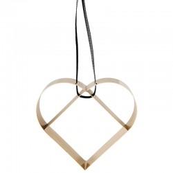 Ornamento Coração Grande Dourado - Figura - Stelton
