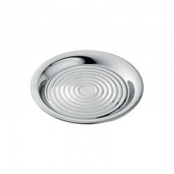 Set of 2 Bottle Coasters ø15,8cm Silver - Alessi | Set of 2 Bottle Coasters ø15,8cm Silver - Alessi