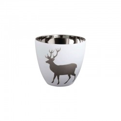 Lantern Deer ø7,2cm - Xmas White And Silver - Asa Selection ASA SELECTION ASA10104427