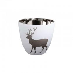 Lantern Deer ø9cm - Xmas White And Silver - Asa Selection