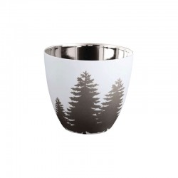 Lantern Fir Tree ø9cm - Xmas White And Silver - Asa Selection