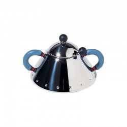 Sugar Bowl and Spoon Blue - 9097 - Alessi