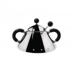 Sugar Bowl and Spoon Black - 9097 - Alessi