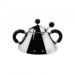Sugar Bowl and Spoon Black - 9097 - Alessi