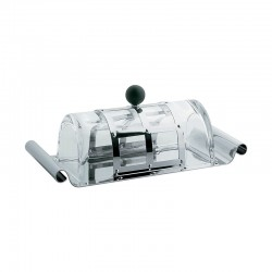 Butter Dish - MGBUT Steel And Black - Alessi