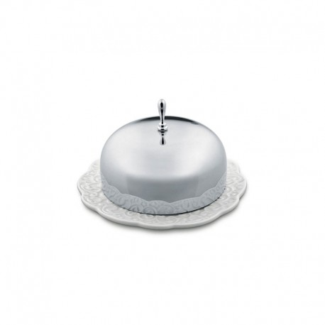 Manteigueira ø12cm - Dressed Inox E Branco - Alessi ALESSI ALESMW16
