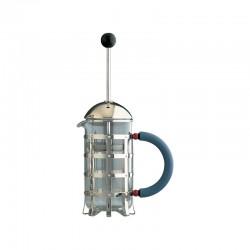 Cafetera a Filtro-Presión o Para Infusiones 240ml - MGPF Acero Y Azul - Alessi