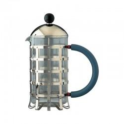 Cafetera a Filtro-Presión o Para Infusiones 720ml - MGPF Acero Y Azul - Alessi