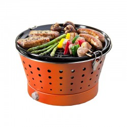 Portable Smokeless Grill - Grillerette Orange - Food & Fun