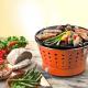 Barbecue Portátil Sem Fumos - Grillerette Laranja - Food & Fun FOOD & FUN FFGRC2004