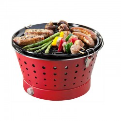 Portable Smokeless Grill Red - Grillerette - Food & Fun