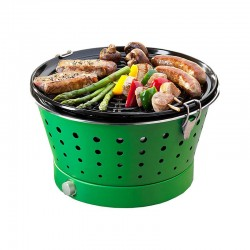 Portable Smokeless Grill - Grillerette Green - Food & Fun FOOD & FUN FFGRC6018