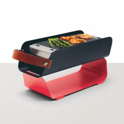 Barbacoa Portatil De Sobremesa - Rojo - Una Grill
