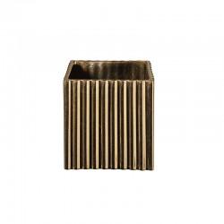 Vaso com Ranhuras 12Cm - Quadro Dourado - Asa Selection ASA SELECTION ASA46103425