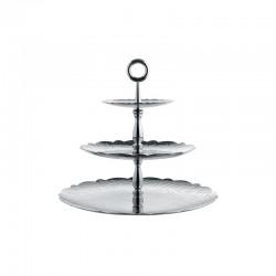 Three-Dish Stand - Dressed Steel - Alessi ALESSI ALESMW52/3