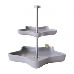 Etagere 2 Tiers Star Grey - Xmas - Asa Selection