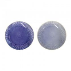 Conjunto De Dos Platos - Linea Azul Claro Y Oscuro - Asa Selection