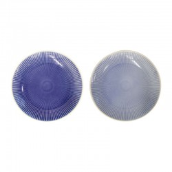 Set Of 2 Plates - Linea Light And Dark Blue - Asa Selection