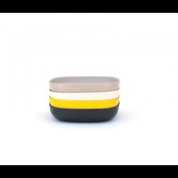 Conjunto De Taças Massa - Gusto Sortido (branco, Pedra, Preto, Limão) - Biobu