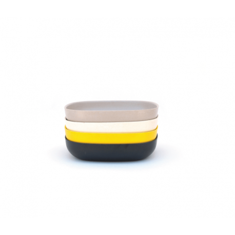 Conjunto De Taças Massa - Gusto Sortido (branco, Pedra, Preto, Limão) - Biobu BIOBU EKB34604