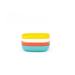 Conjunto De Taças Massa - Gusto Sortido (laranja, Branco, Turquesa, Limão) - Biobu