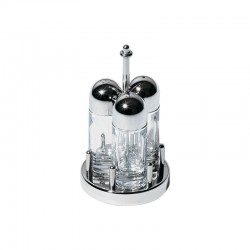 Condiment Set - Salt, Pepper And Toothpicks Steel - Alessi