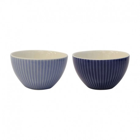 Set Of 2 Bowls - Linea Light And Dark Blue - Asa Selection ASA SELECTION ASA90506071