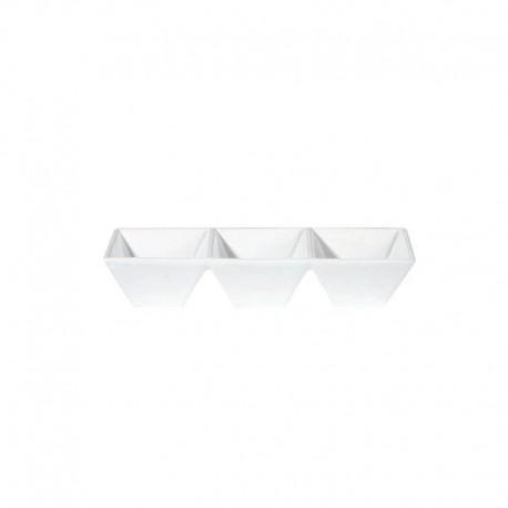 Taza Tripla 23,5Cm - Quadrato Blanco - Asa Selection |Taza Tripla 23,5Cm - Quadrato Blanco - Asa Selection