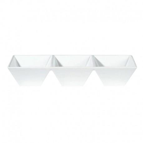 Triple Dish 34,5Cm - Quadrato White - Asa Selection ASA SELECTION ASA91414005