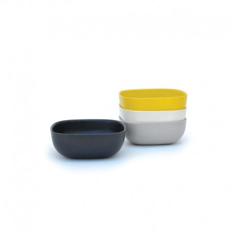 Small Bowls Set 10Cm - Gusto Assorted (white, Stone, Black, Lemon) - Biobu BIOBU EKB34567