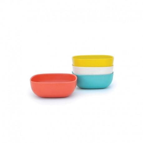 Small Bowls Set 10Cm - Gusto Assorted (persimmon, White, Lagoon, Lemon) - Biobu BIOBU EKB34574